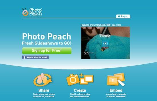 PhotoPeach – slideshow com fotos, texto e música.