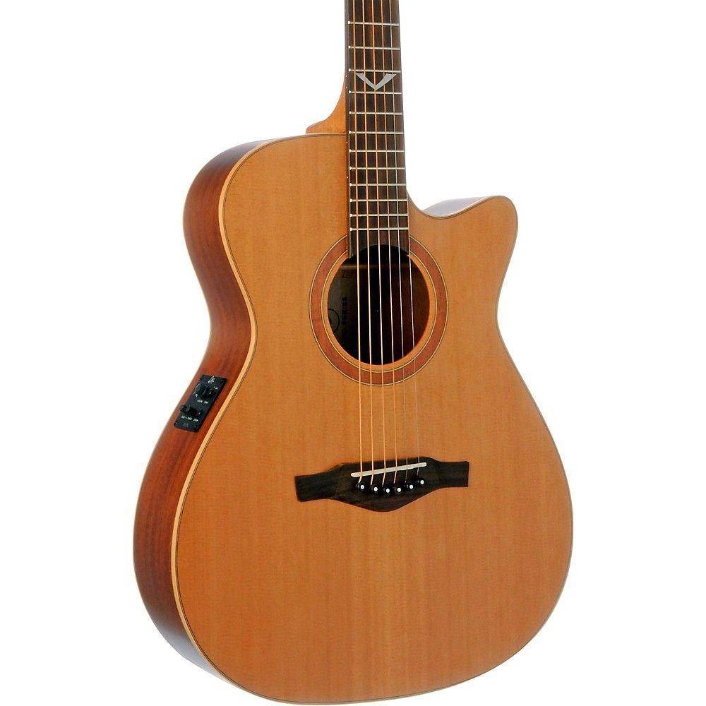 Eko Evo Series Auditorium Cutaway Acoustic Electric Guitar Natural Acoustic Electric