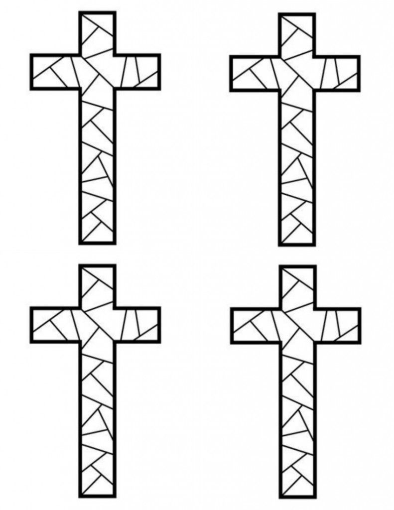Free Printable Cross Coloring Pages Mosaic crosses Free