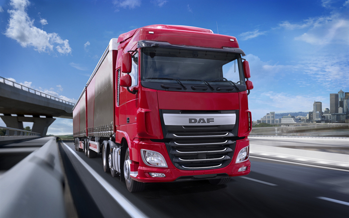 Download wallpapers daf xf 4k road 2018 truck semi - Animesh wallpaper ...