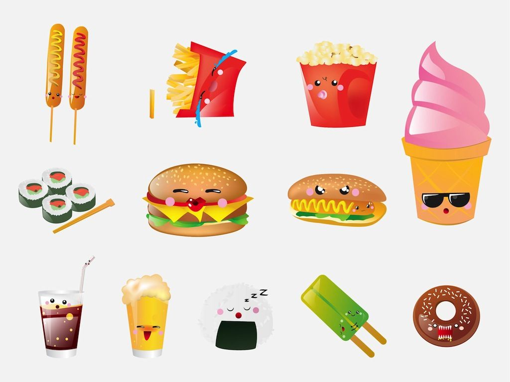 Cartoon Foods Food Cartoons Dengan Gambar