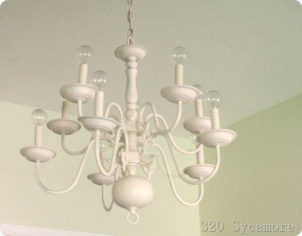 320 Sycamore How To Paint A Brass Chandelier Diy Chandelier Makeover Diy Chandelier Brass Chandelier Diy