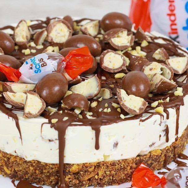 Anzeige wegen Markennennung: Nach laaaanger laanger Zeit habe ich endlich mal wieder eine Torte für ein. Und zwar eine Kinder Schoko Bon Torte ☺️
