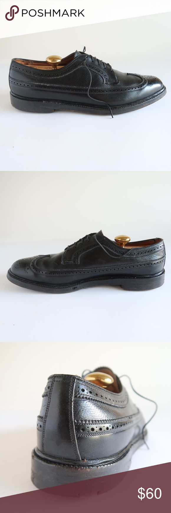 7bdc5c734c90 Florsheim Imperial Black Wingtip Dress Shoes Thank you for your interest.  Please note that even if pictured