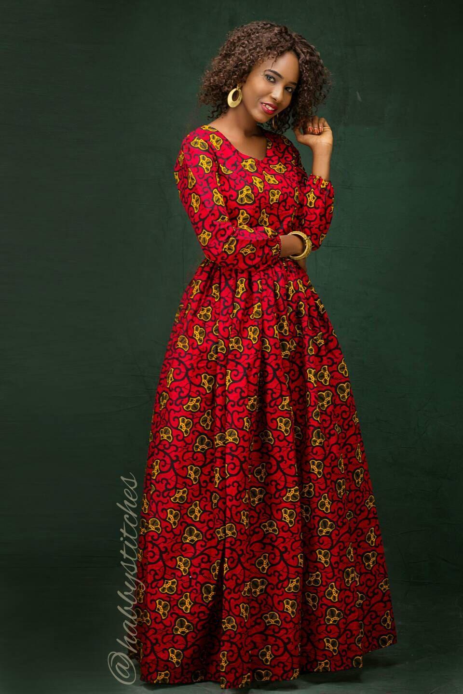 Kiki maxi africaine robe africaine maxi Long africaine robe