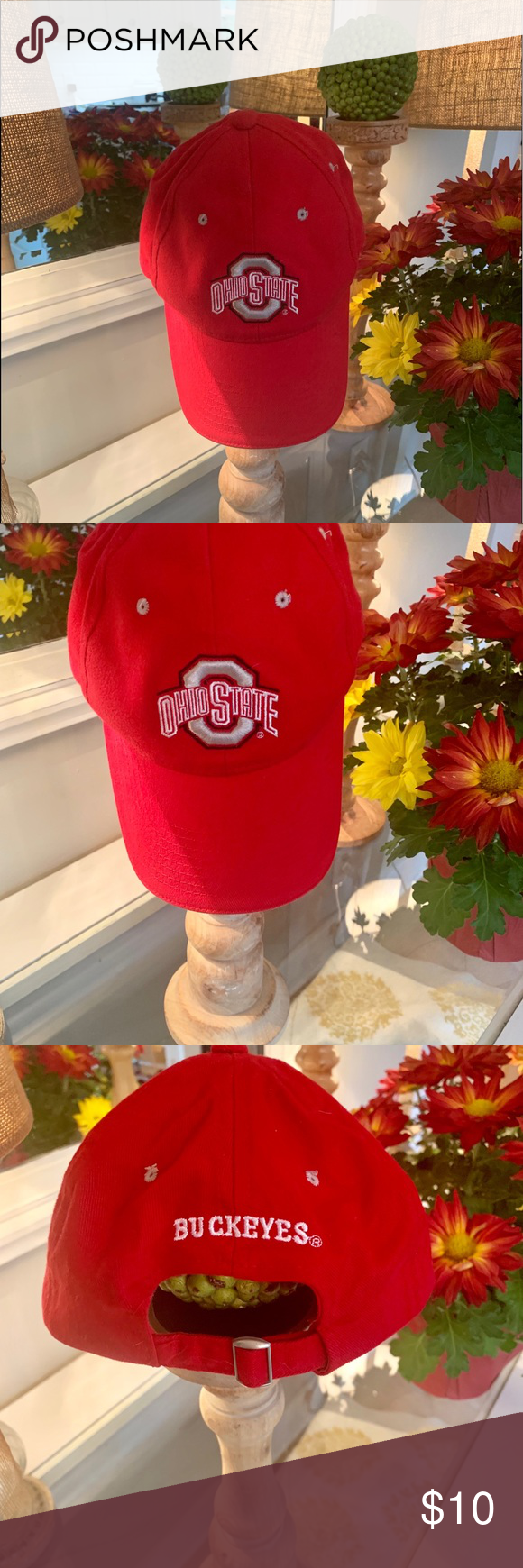 Ohio State Buckeyes red hat! ️�️ Ohio State Buckeyes red hat! ️�️ Accessories Hats