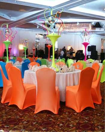 Disco Ball Centerpiece Decorations With Spandex Chair