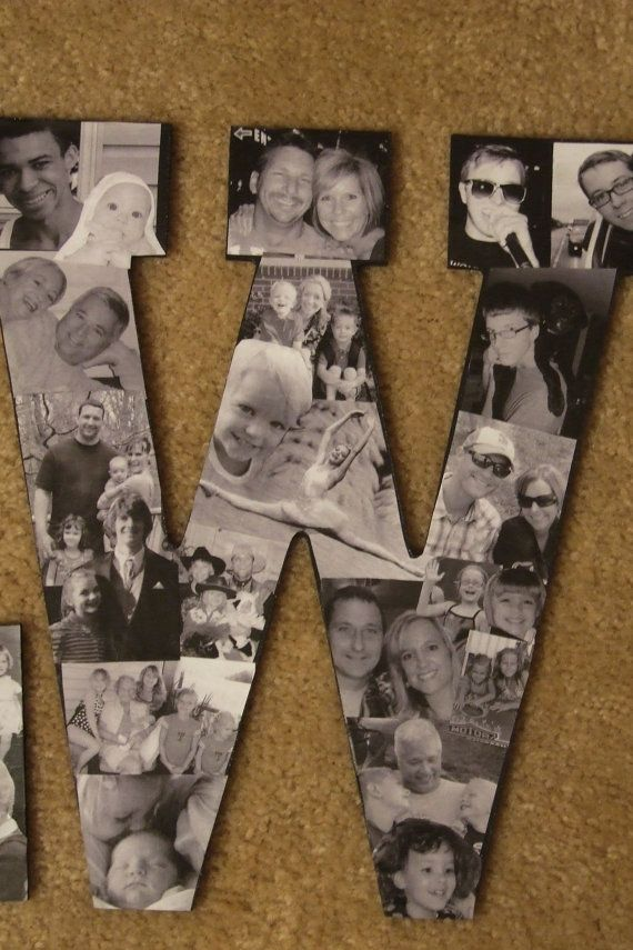 custom collage photo letters by picketfencecrafts on etsy 5000