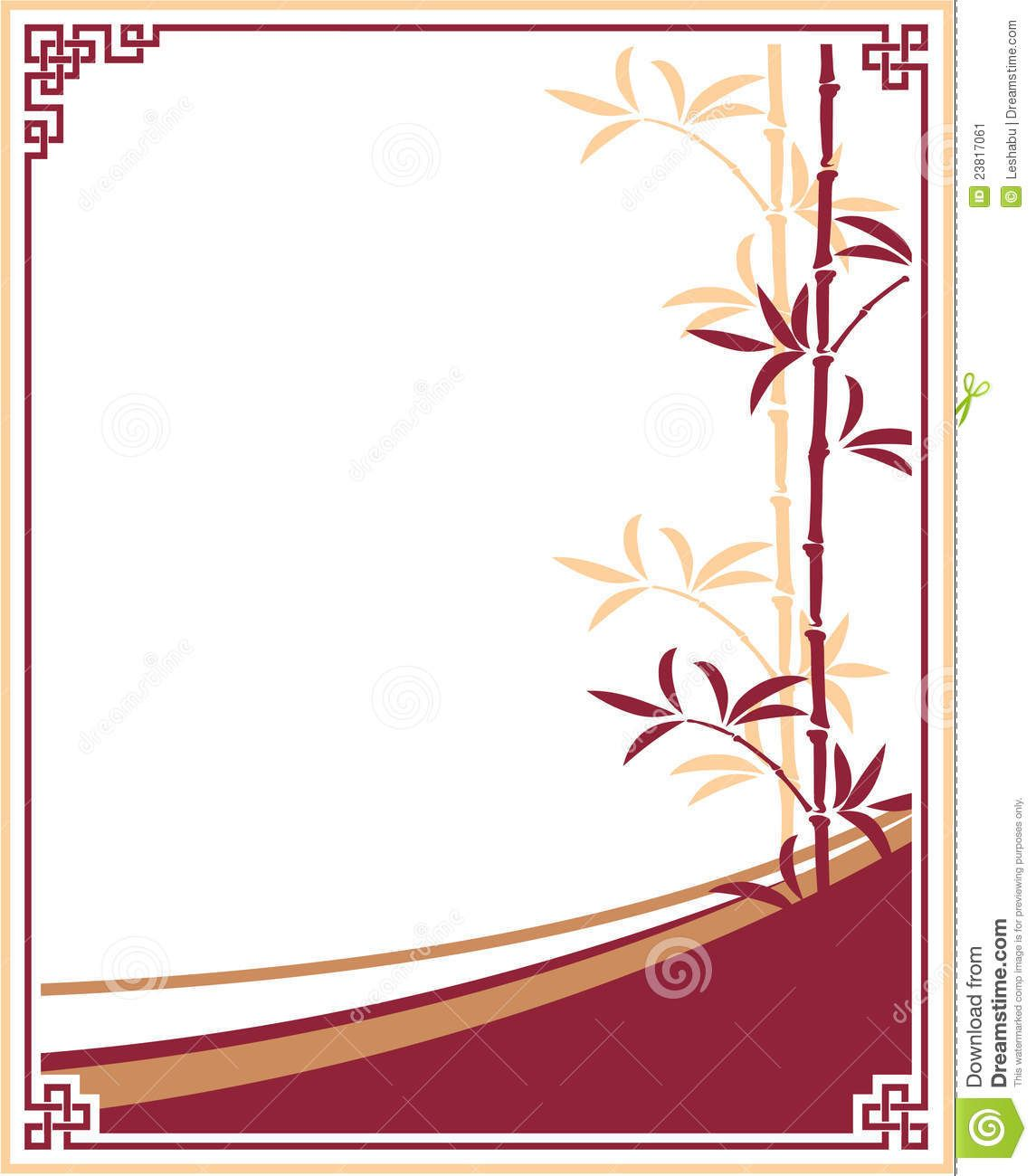 Oriental - Chinese - Template Frame With Bamboo Stock Image ...