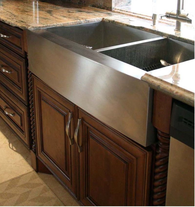 stained maple and painted cabinets | Chocolate Maple Glaze (Light ...