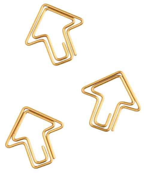 These Gold Arrow Paper Clips 4 Paper Clips Desk Accessories Paper Clip