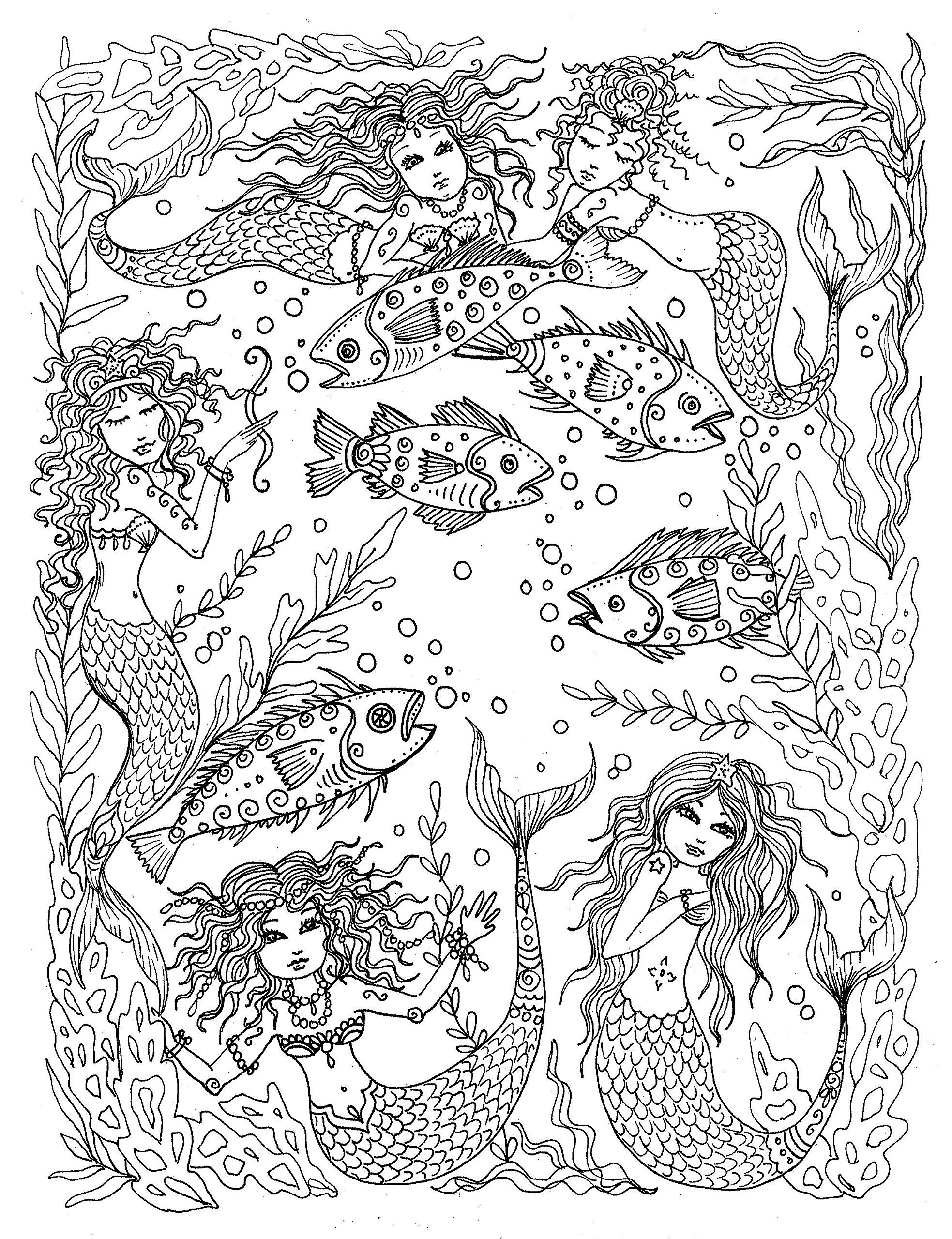 Under the sea coloring book for adults - Under The Sea Fantasy Art To Color And Hang Adult Coloring Book You Be The
