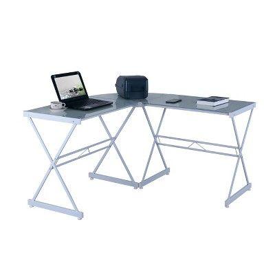 Cool L Shaped Glass Computer Desk White Techni Mobili In 2019 Interior Design Ideas Clesiryabchikinfo
