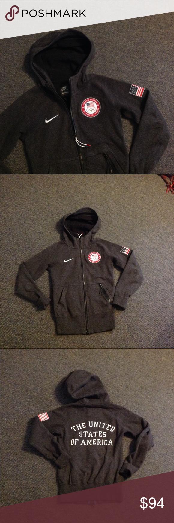 Nike Usa Olympic Team Hoodie Jacket Xs Team Hoodies Hoodie Jacket Hoodies [ 1740 x 580 Pixel ]