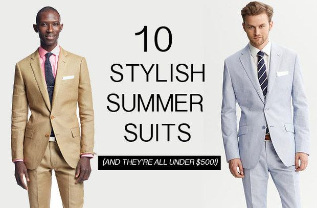 Men's summer suits for weddings