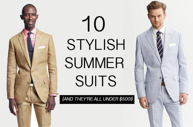 Men's summer suits for weddings