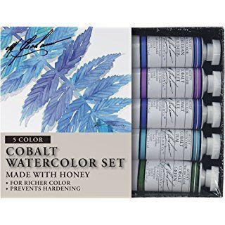 M Graham Tube Watercolor Paint Cobalt Mix 5 Color Set 1 2 Ounce