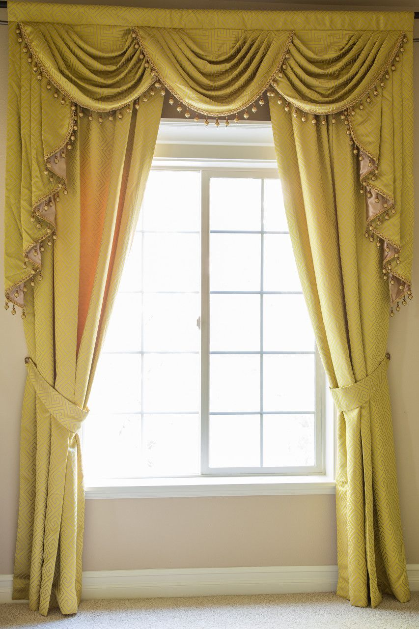 Best Window Treatments Swag Valance Curtain Collection By - Classic ball fringe curtains
