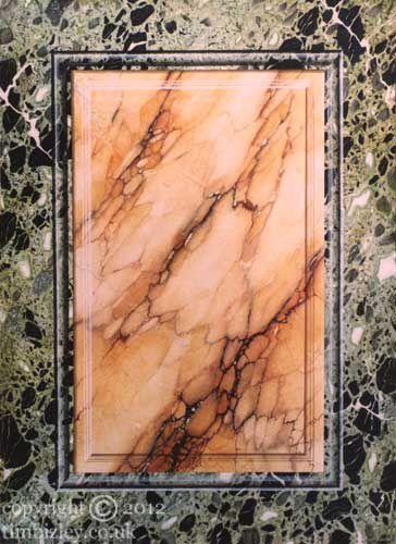 faux marble trompe l'oeil panel vert antique by Tim Bizley