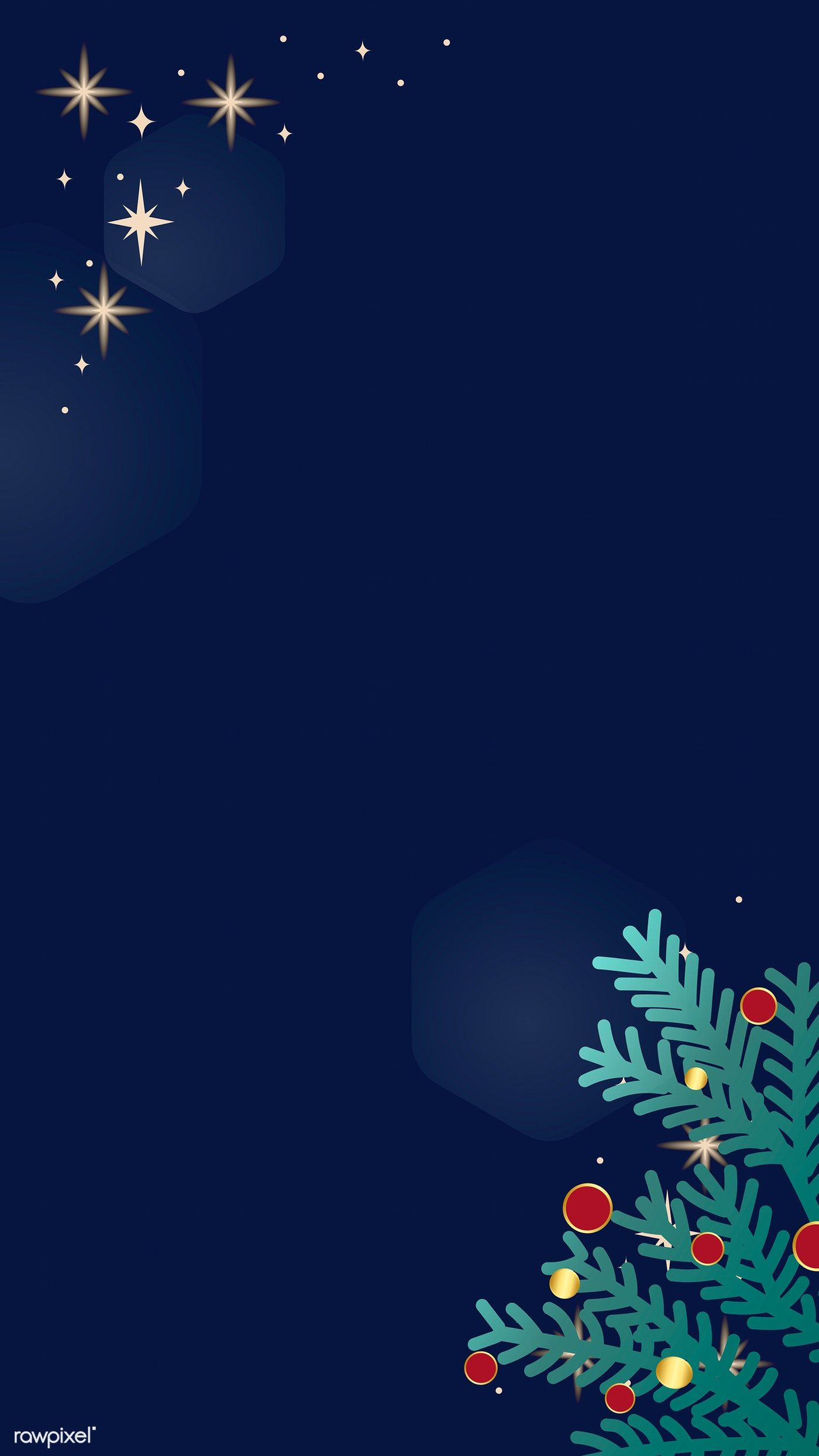 Download premium vector of Christmas doodle on blue