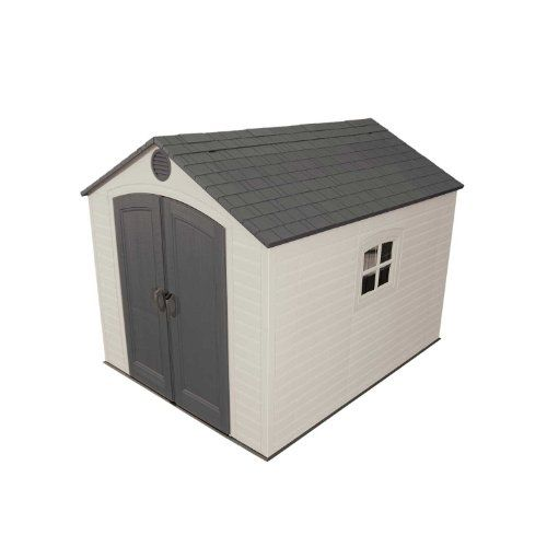 989 Lifetime 6405 8 By 10 Foot Outdoor Storage Shed With Window Skylights And Shelving Lifeti Plastic Storage Sheds Storage Shed Kits Lifetime Storage Sheds