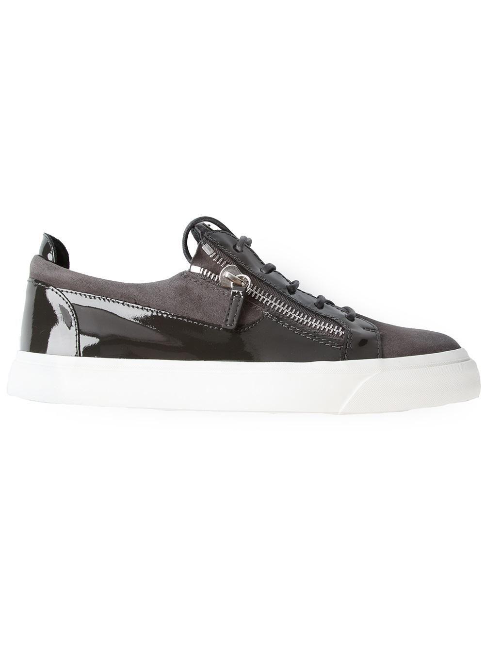 2c19156da456 Shop Giuseppe Zanotti Design zip detail sneaker from Farfetch ...