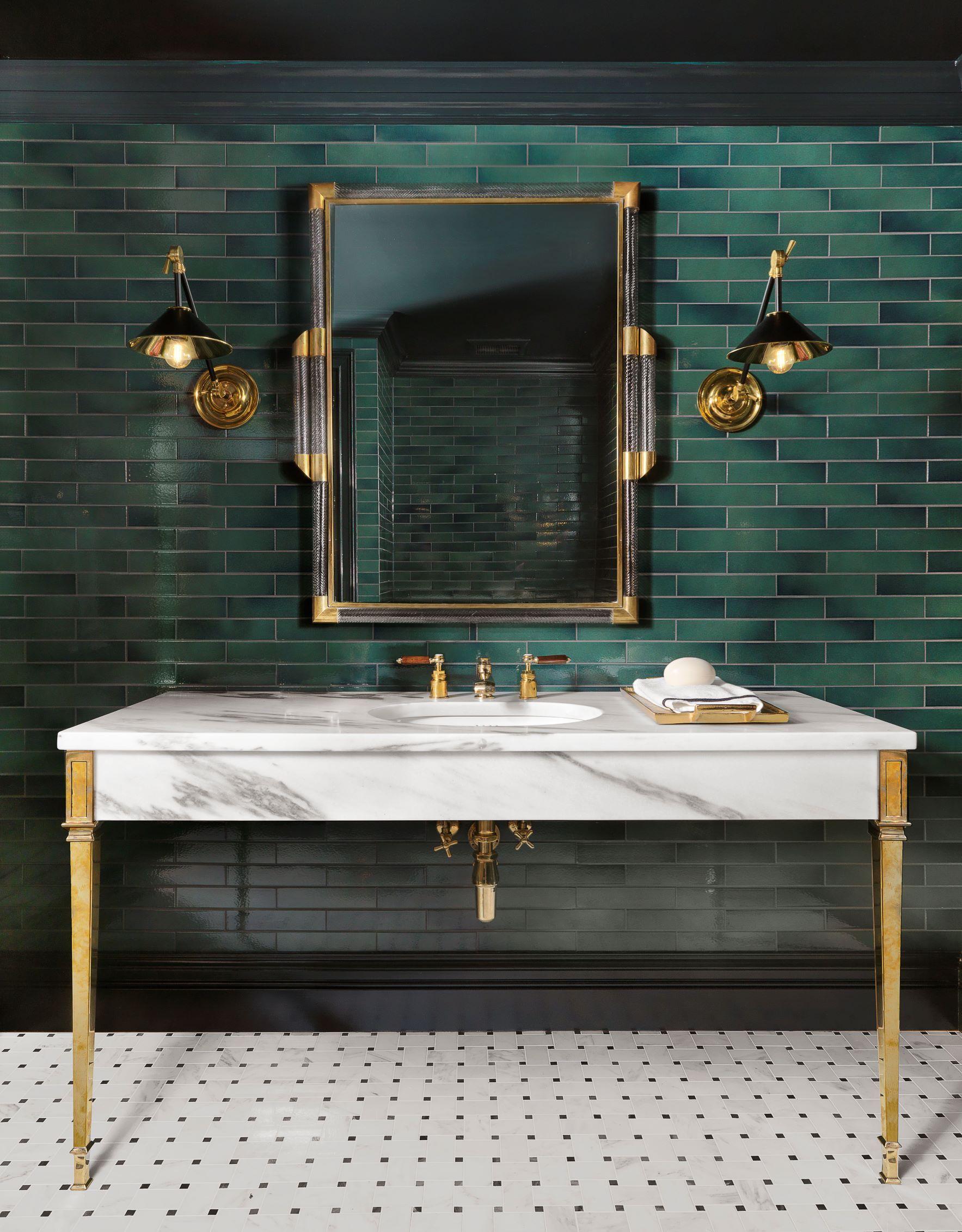 Powder Room By Amy Kartheiser Design: Bathroom, Powder Room, Green
