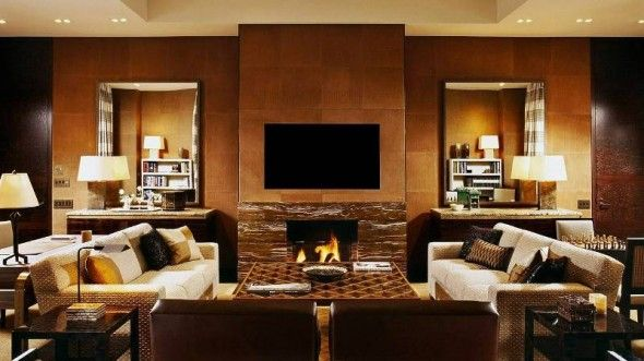 Four Seasons Hotel   Living Room With Fireplace Part 64