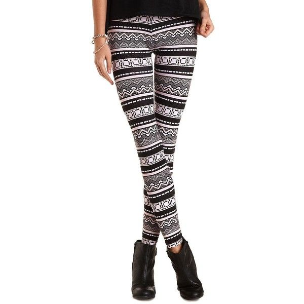 Charlotte Russe Cotton Tribal Print Leggings $13