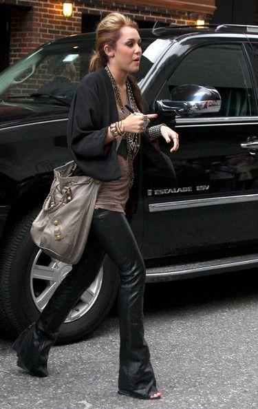 afbab878018f1 Miley Cyrus Black Leather pants... LOVE THEM!