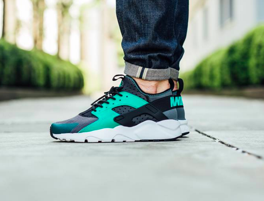 nike huarache ultra mens green