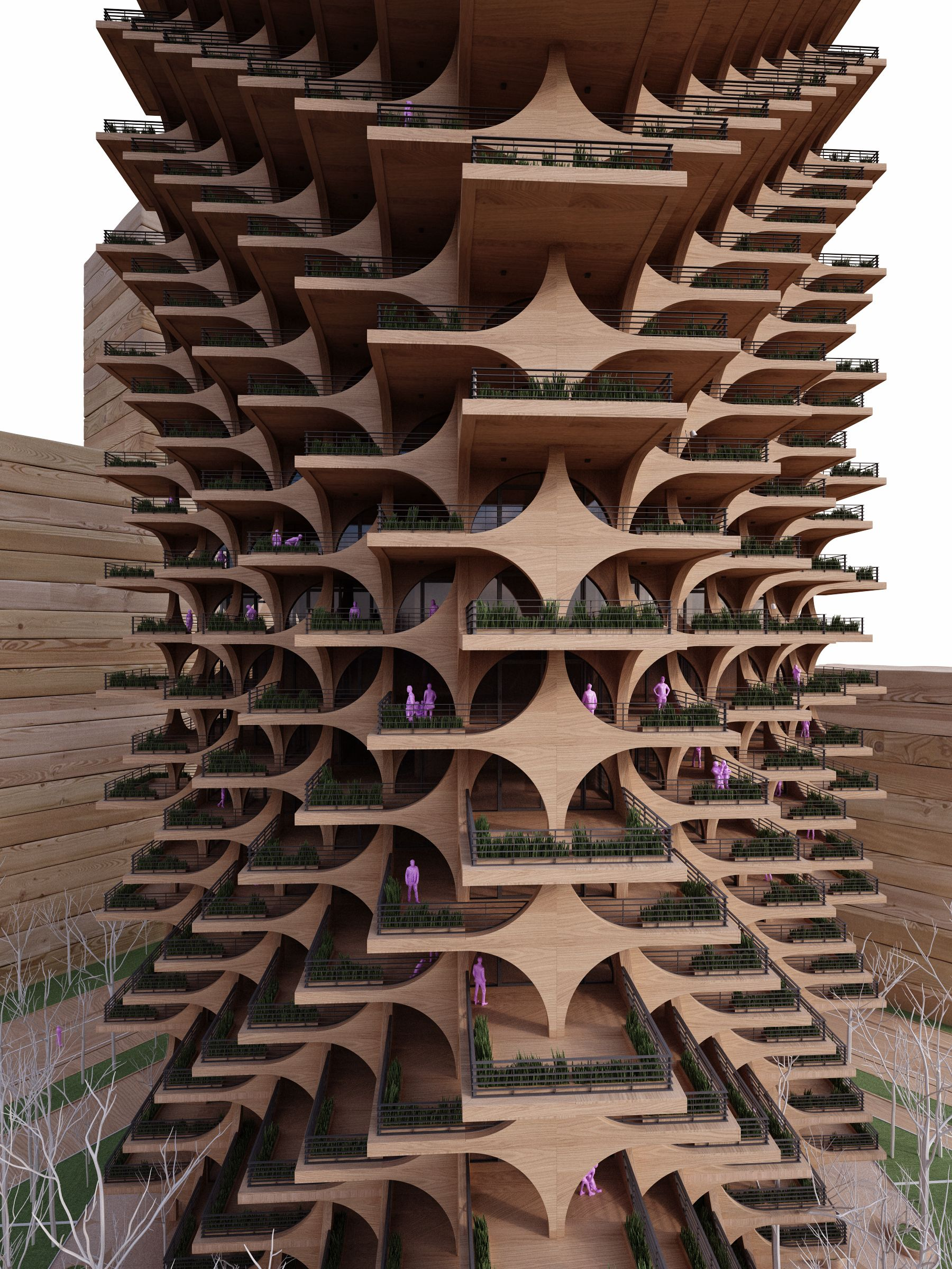 Gallery of Cascading Brick Arches Feature in Penda