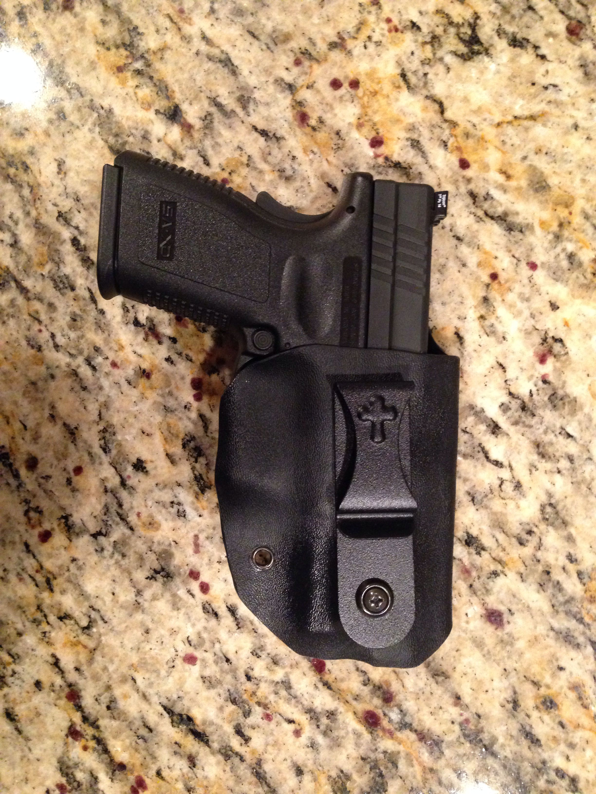 First diy kydex holster for my xd45 compact kydex