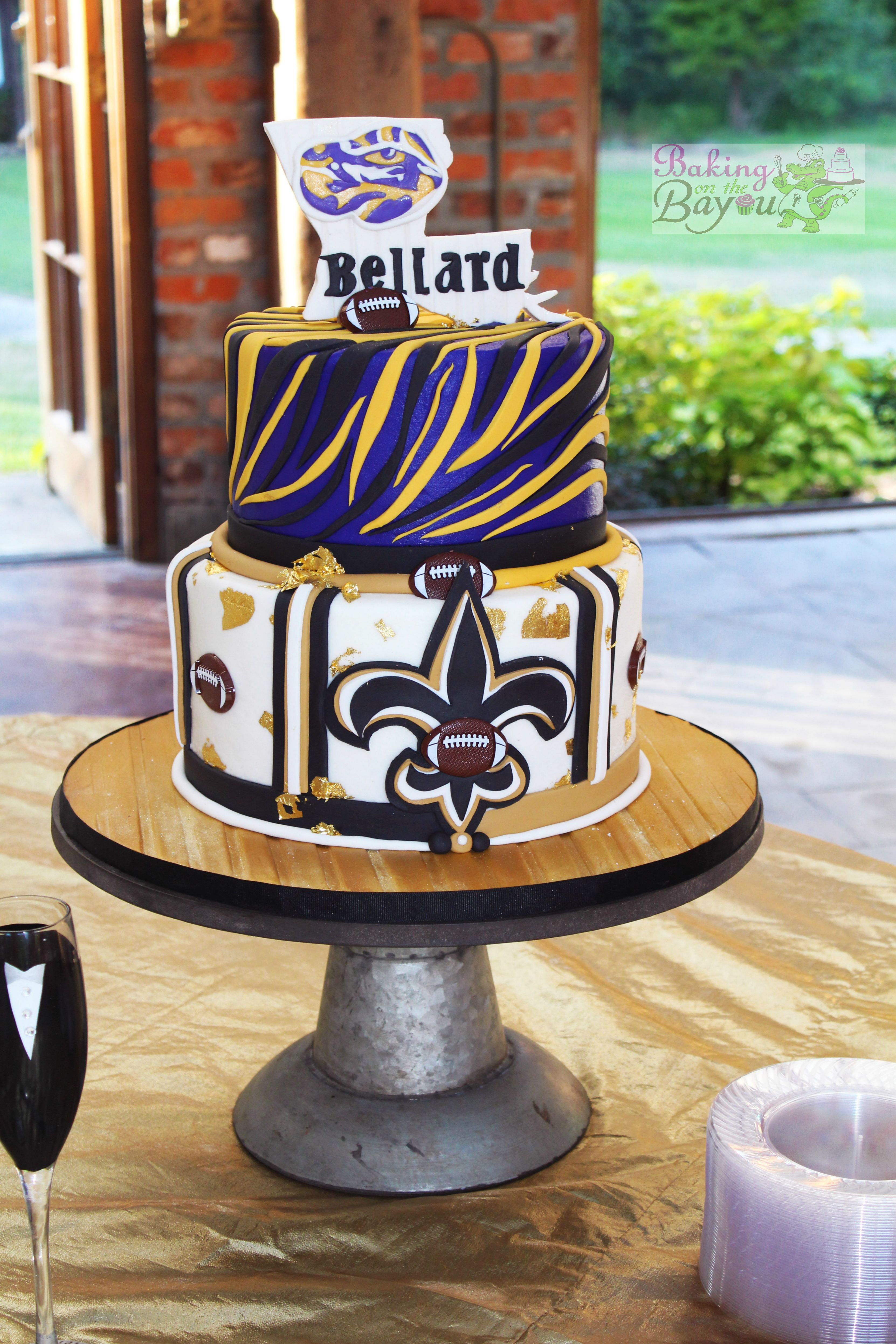 Lsu Amp Saints Groom S Cake Groom S Cakes In 2019