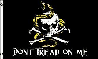 3 X5 Don T Tread On Me Pirate Flag Jolly Roger Skull Gadsden American Us U S U S A Usa By 9 99 Pirate Flag Dont Tread On Me Jolly Roger Flag