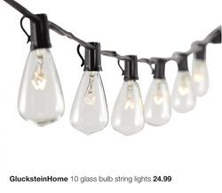 GlucksteinHome 10 Glass Bulb String Lights From Home Outfitters $24.99