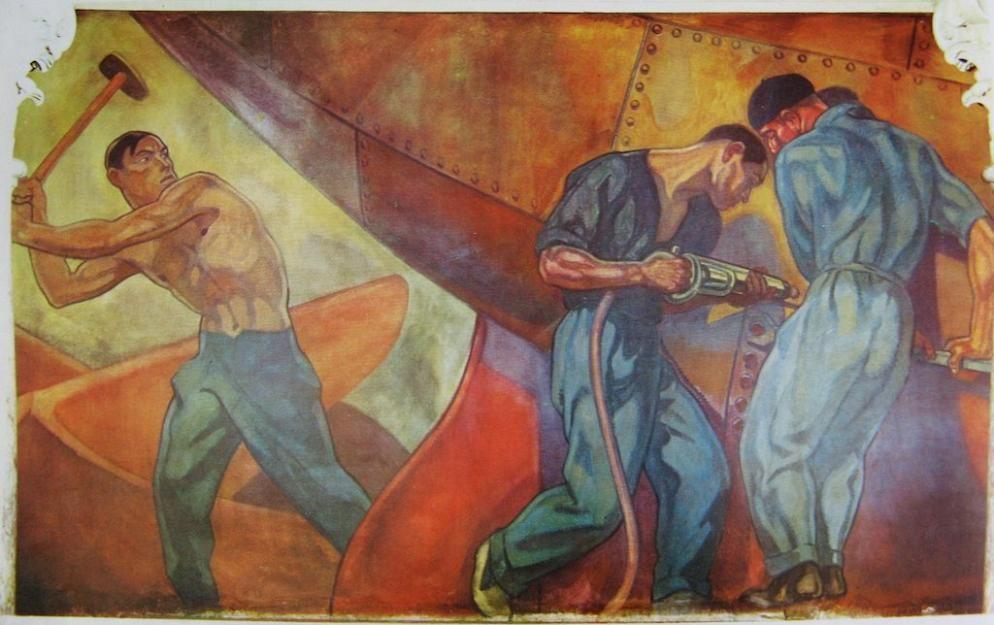 El astillero frescos para el banco de bilbao en madrid - Pintores en bilbao ...