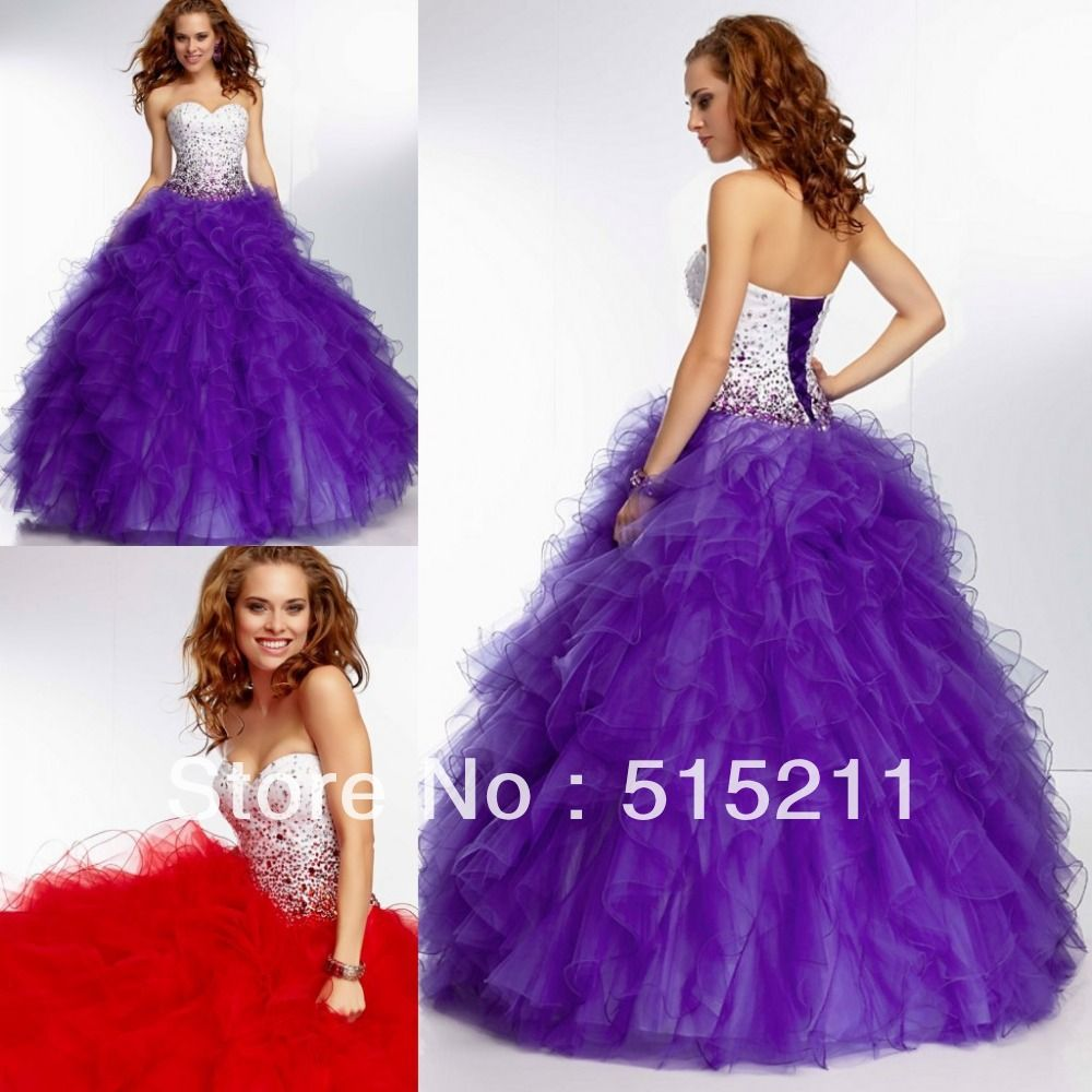 Sweet 16 dresses long puffy hair