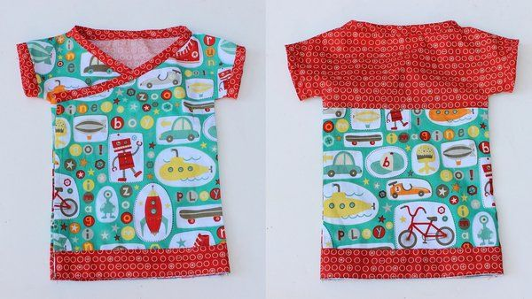 Oberteil 0-3M - baby kimono tshirt free pattern riley blake | Baby ...