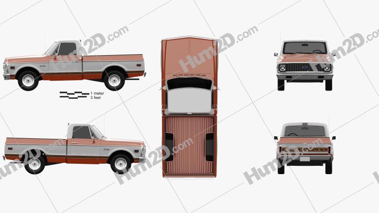 Chevrolet C10 Cheyenne Pickup 1971 Clipart Clip Art Chevrolet Cheyenne