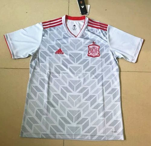 cac352367 2018 World Cup Spain Away Gray Tailand Soccer Jersey