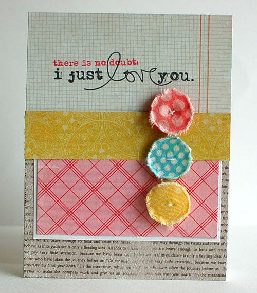 love this card by @Teri Anderson featuring her shabby little buttons