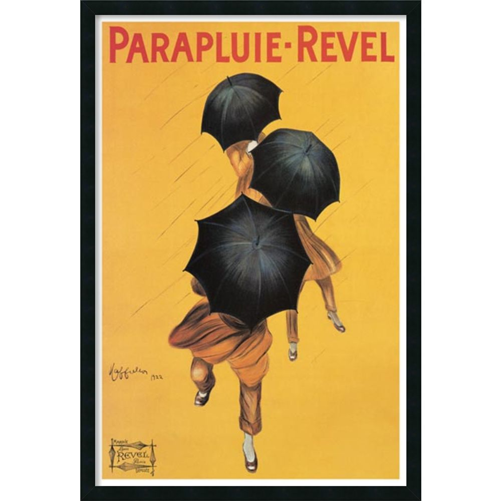 Leonetto Cappiello \'Parapluie Revel\' Framed Textured Art | Overstock ...