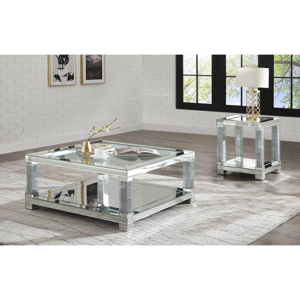 Aaliyah 3 Piece Table Set Side Table Only 1 In 2021 Square Mirrored Coffee Table Mirrored Coffee Tables Coffee Table [ 1000 x 1000 Pixel ]