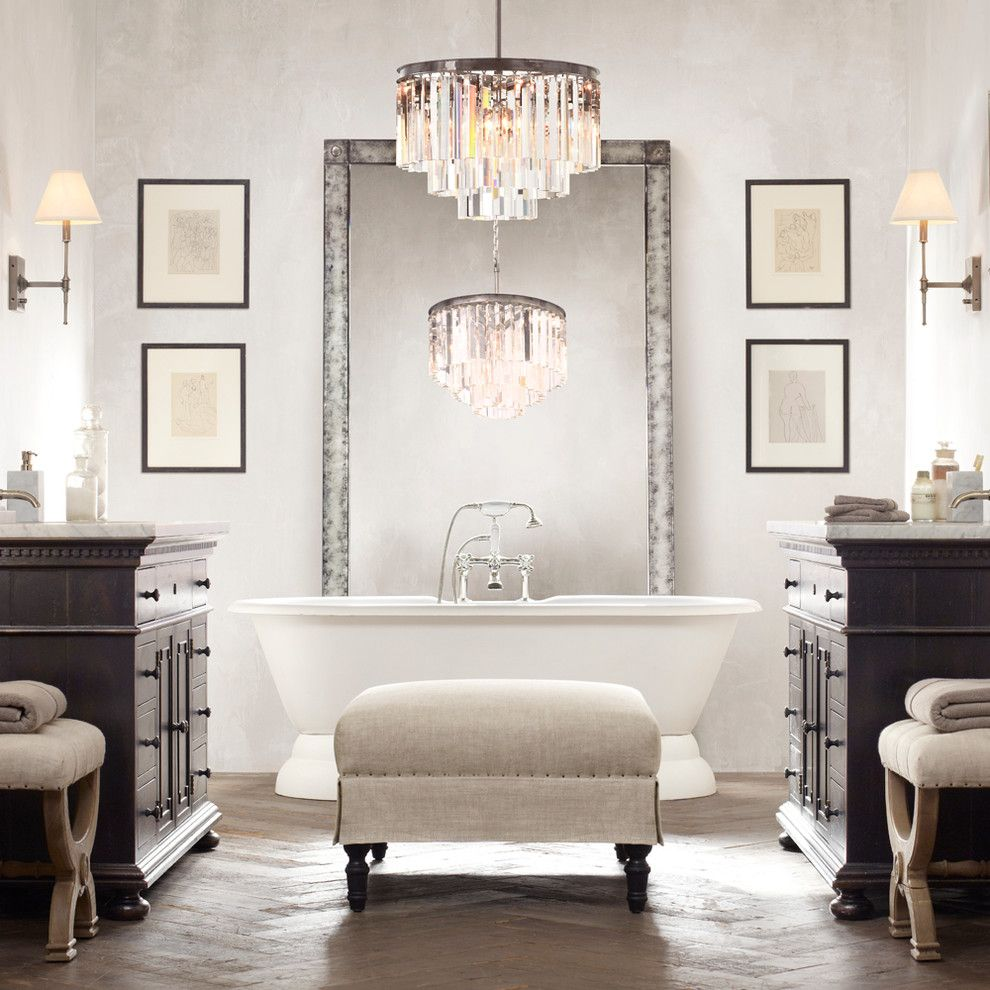Install a chandelier to add instant elegance to your bathroom via install a chandelier to add instant elegance to your bathroom via sohaus arubaitofo Choice Image