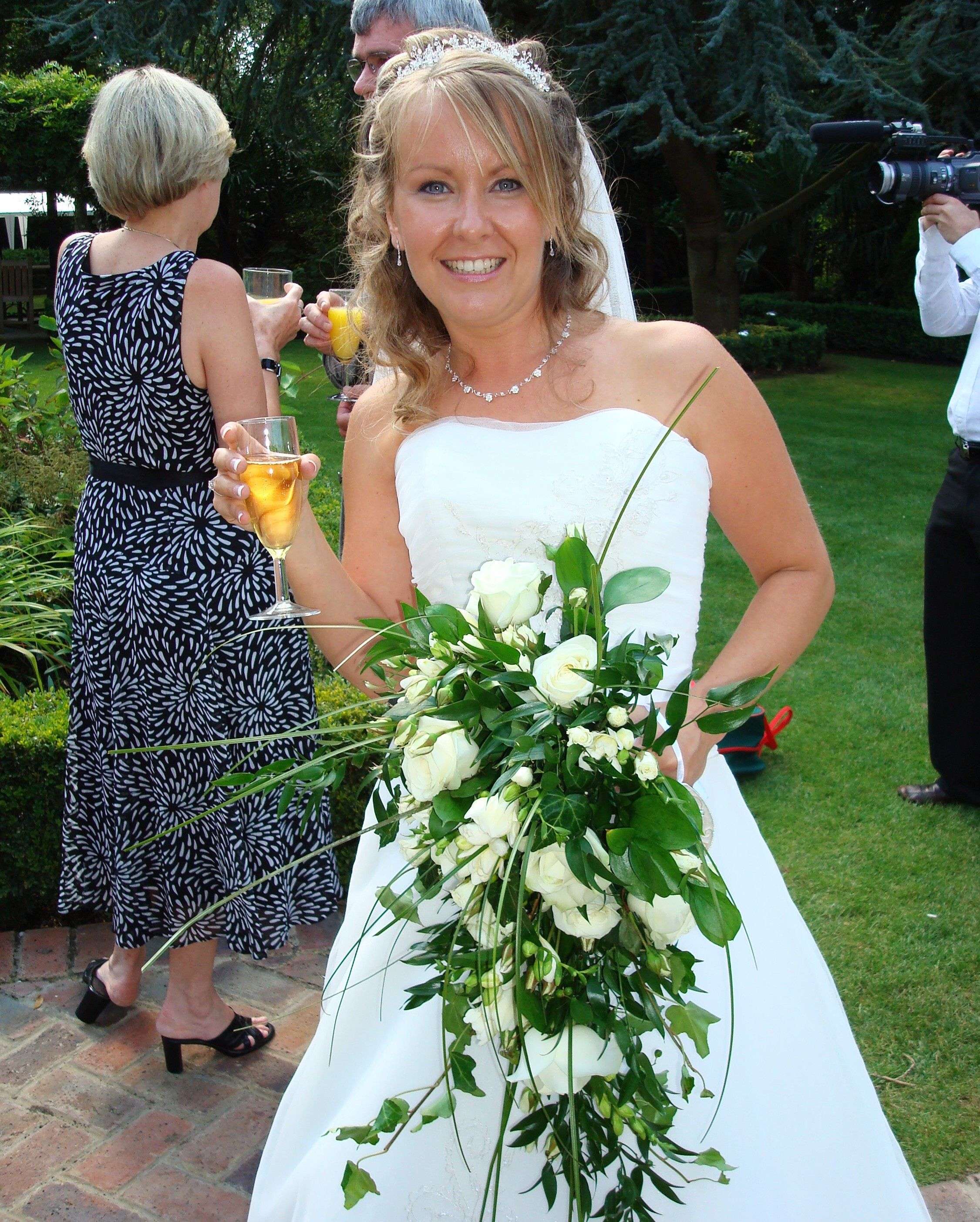 Classic Whites Fully Wired Bridal Bouquet Bride Bouquets Flower