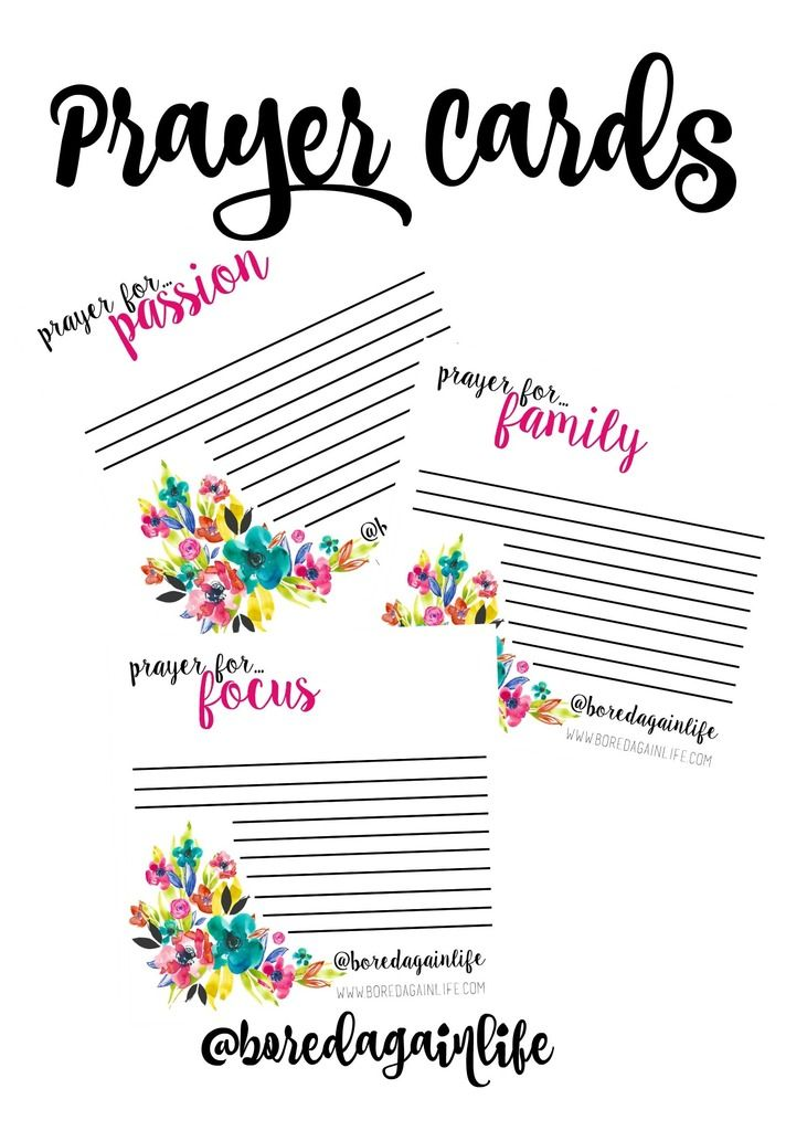 Prayer Request Card Idea  Mops    Prayer Request Card