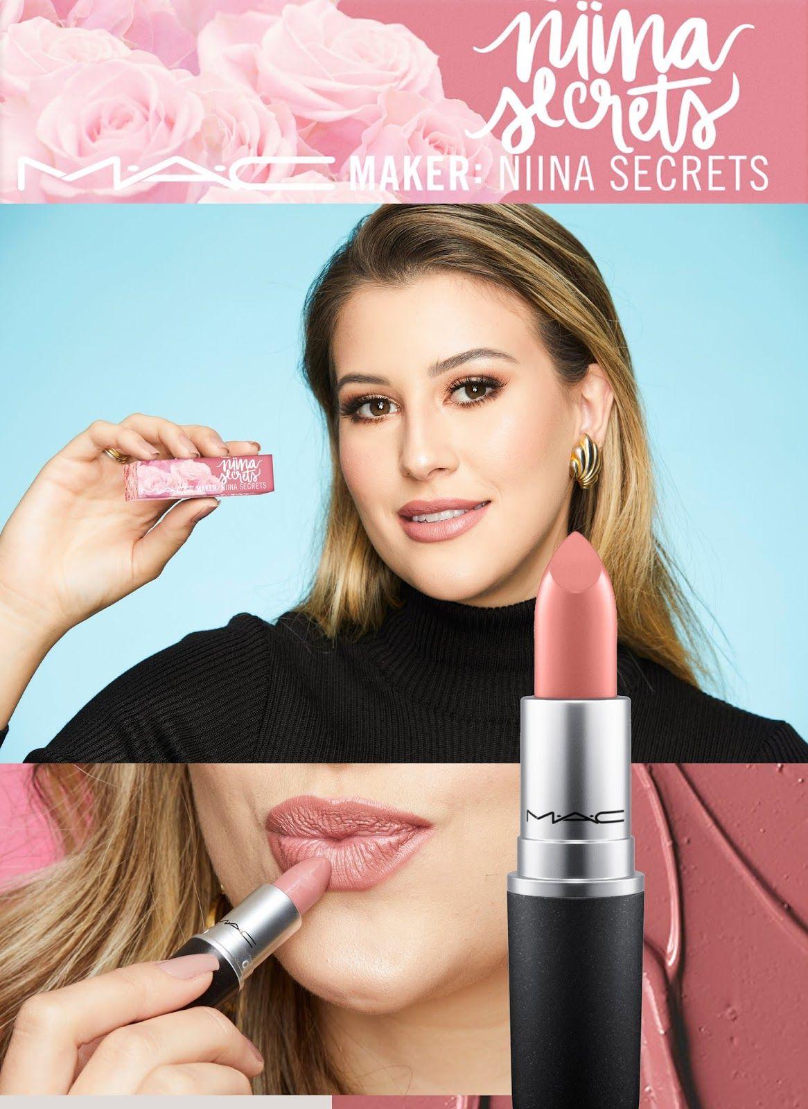 554ff9a2fb5 M.A.C Cosmetics e Niina Secrets anunciam data de lançamento do batom em  parceria com a influenciadora