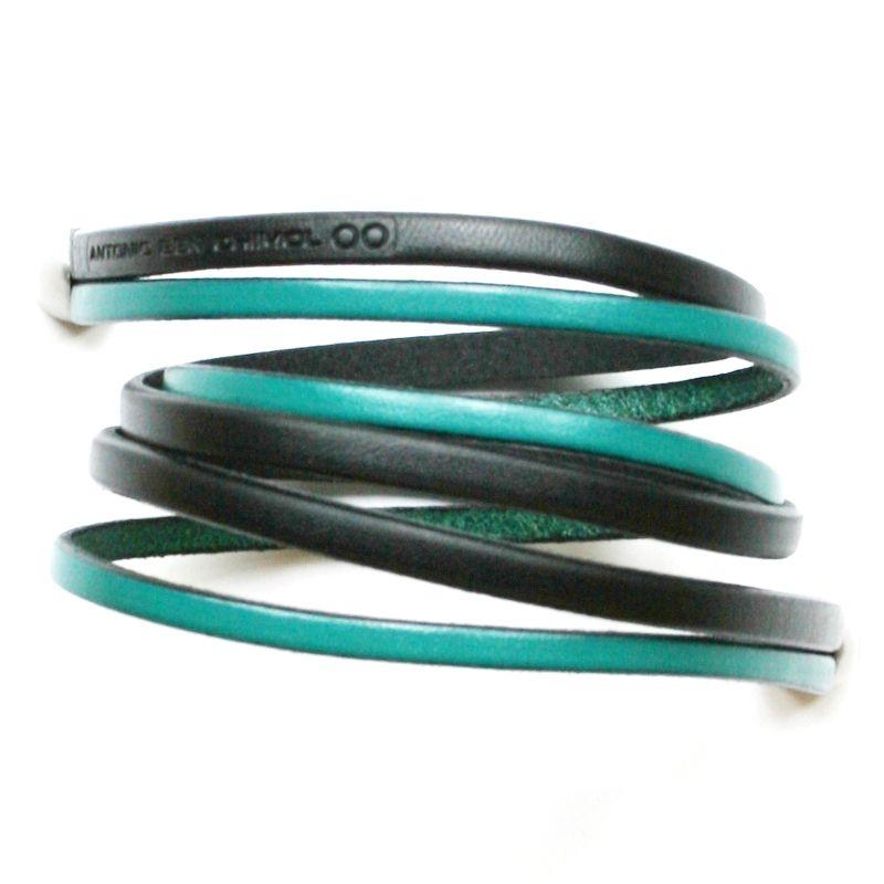 Black and turquoise bullet bracelet bracelets bangles