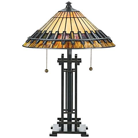Quoizel Chastain Tiffany Style Table Lamp